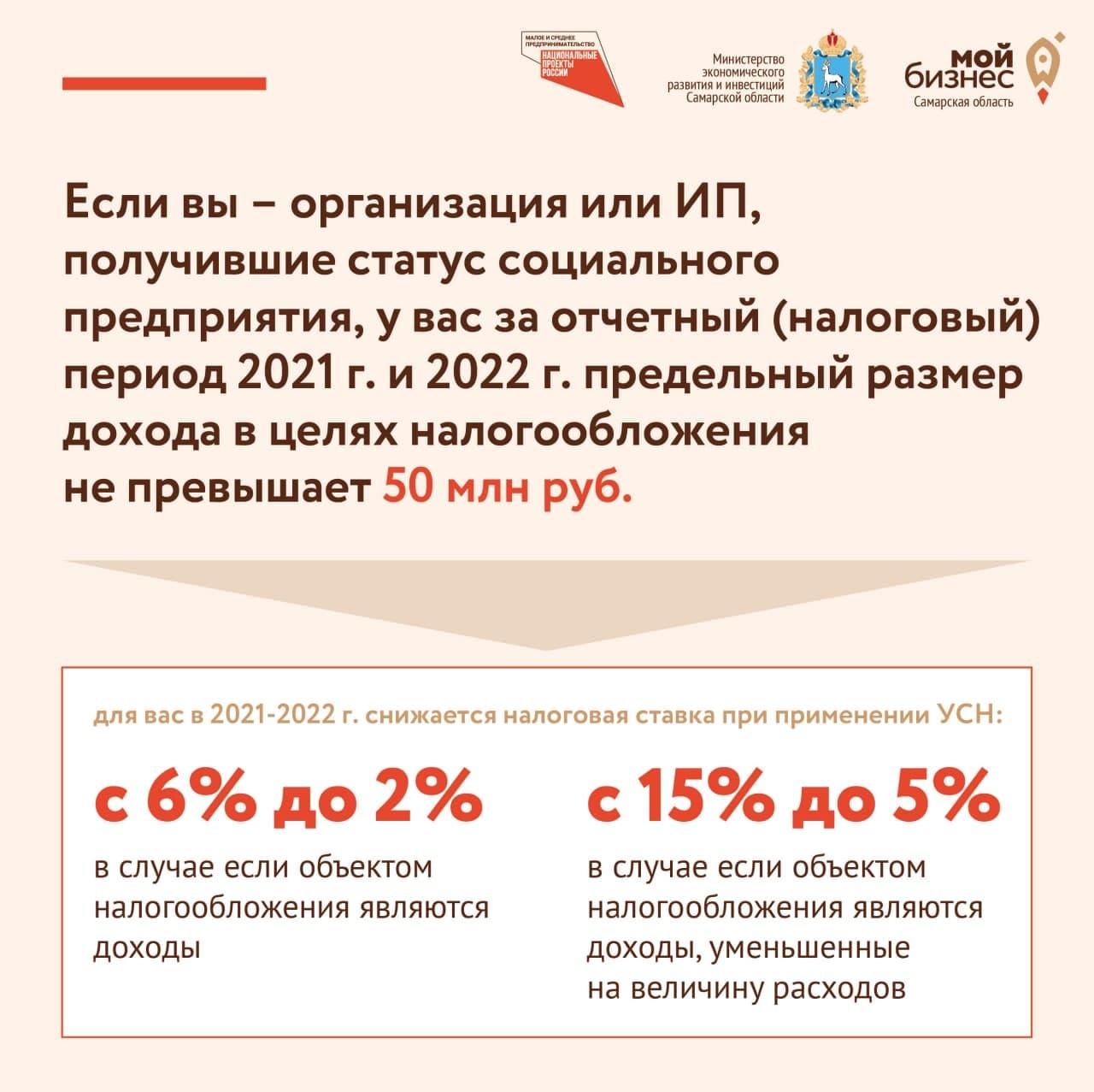 Снижение ставок по УСН Самарская область